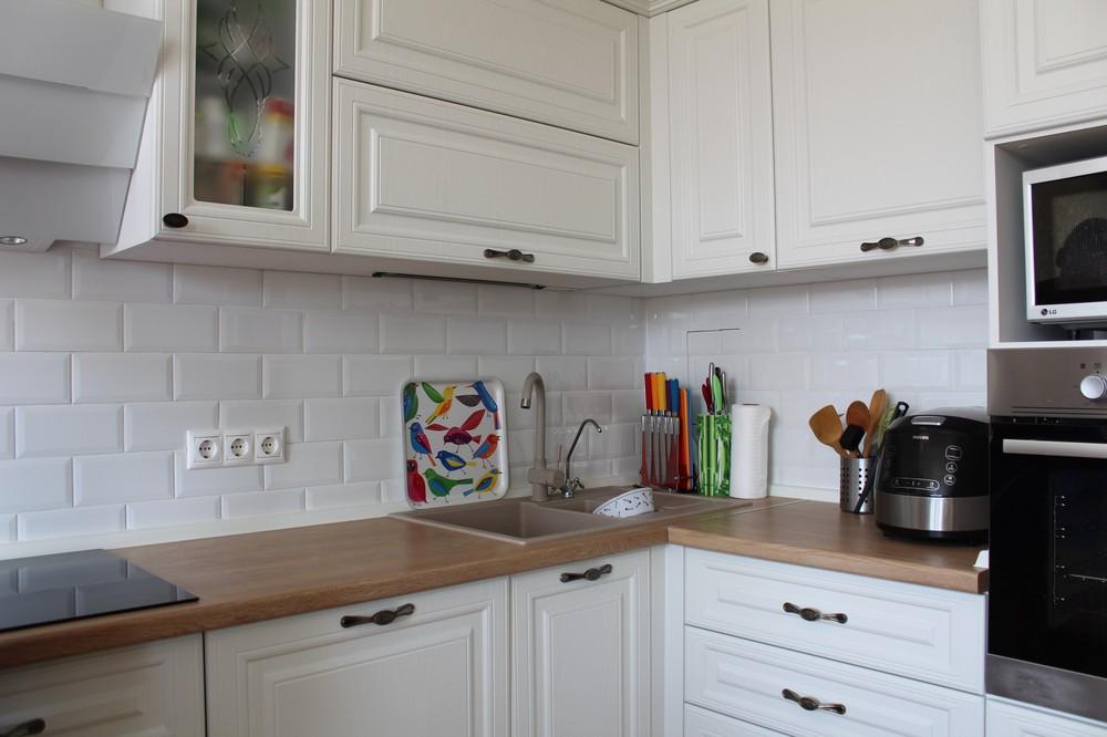 Белый кухонный гарнитур-Кухня МДФ в ПВХ «Модель 102»-фото8
