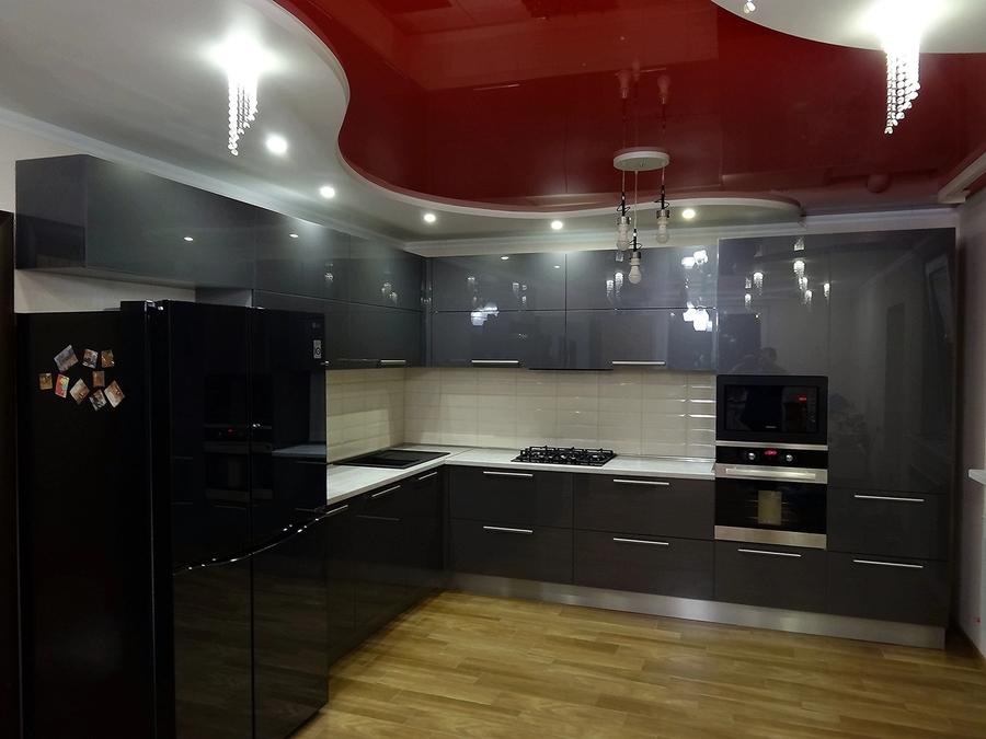 Акриловые кухни-Кухня из пластика «Модель 451»-фото1