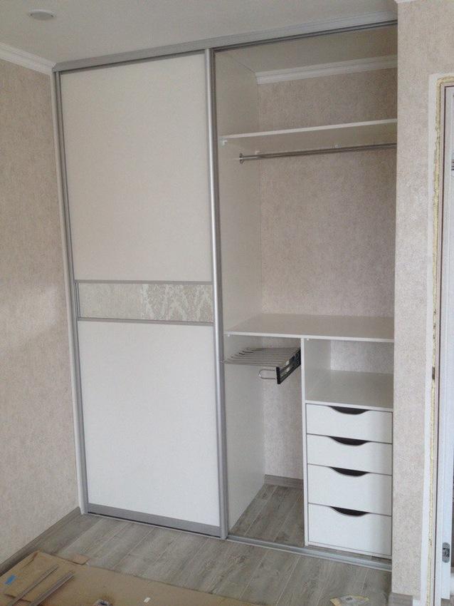 Белые шкафы-купе-Шкаф-купе из ЛДСП «Модель 499»-фото3