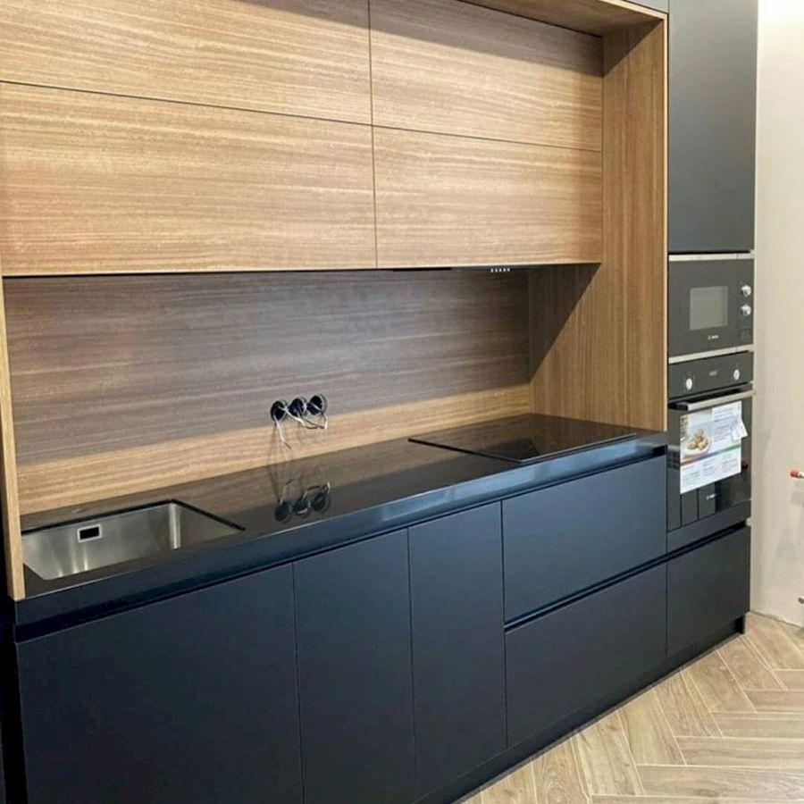 Высокие кухни под потолок-Кухня из пластика «Модель 675»-фото3