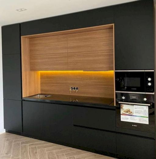 Высокие кухни под потолок-Кухня из пластика «Модель 675»-фото6